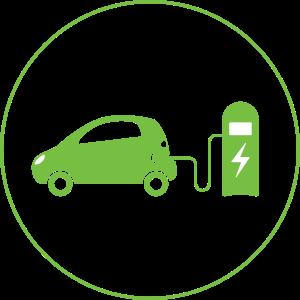 icono punto de recarga vehículo eléctrico